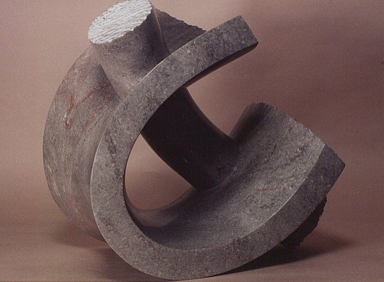 """Through Out, 1989, Tennessee marble, 14 x 13 1/2 x 11"""""""