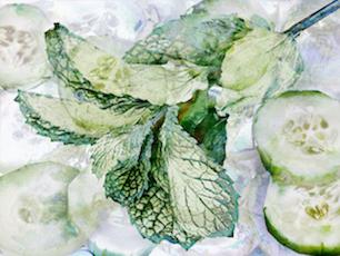 """Julie Brook Alexander, """"cucumber and mint"""", 2019"""