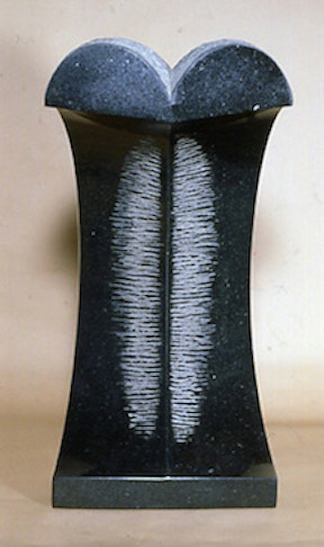 """Masaru Takiguchi, """"Sea in Winter"""", 2006-07, Brazilian black granite, 27 1/2 x 13 3/4 x 10 3/4"""""""