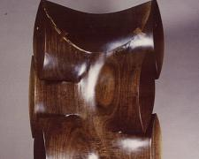 Memory of Butterfly, 1987, walnut, 43 1/2 x 19 x 10""
