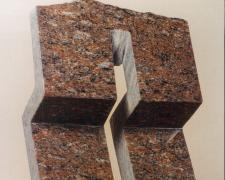 Stand Up, 1990, Arkansas red granite, 14 3/8 x 7 3/8 x 3 1/4""
