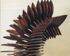 A Gust of Wind, 1997, pine, 29 1/2 x 22 1/4 x 14""