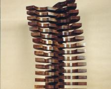 Spring Wind, 1997, stained pine, 36 1/4 x 14 x 12 3/4""