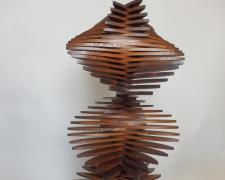 Goddess Wind, 1997, stained pine, 31 1/8 x 14 x 13 1/4""
