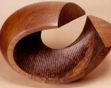 """Billow, 1998, Texas walnut, 10 3/4 x 16 x 8 3/4"""""""