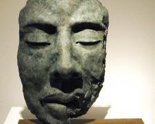 """Rostro III (Ojo Cerados), 2002, bronze, 14 1/4 x 12 1/4 x 6 3/4"""""""