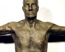 "Balance II (detail),1999, bronze, 29 x 28 1/8 x 8"", ed. 8/8"