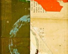"document #3, 2012, mixed media collage, f.s. 15 1/4 x 12 1/4"" / i.s. 7 1/4 x 5 1/4"""