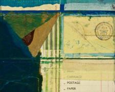 "document #4, 2012, mixed media collage, f.s. 15 1/4 x 12 1/4"" / i.s. 7 1/4 x 5"""