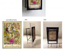 "Vladyslav Krasnoshchok and Olga Starostina, Negative No. 2, 2011, cabinet portrait, ink, aniline ink, i.s. 6 1/2 x 4 1/2"" / f.s. 11 x 7 5/8 x 3 1/4"""