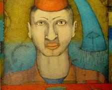 "For Lieza, 2008, color pencil, graphite, collage, ink, i.s. 19 x 12"""