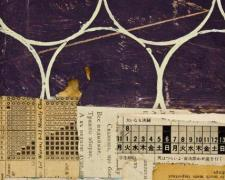 "document #9, 2013, mixed media collage, f.s. 15 1/4 x 12 1/4"" / i.s. 7 1/4 x 5"""