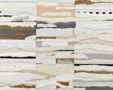"Achromatic #2 - 2013 paper collage on masonite 12 x 9 x 1/8"""