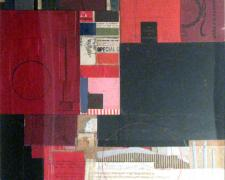 from the dust of time, 2009, mixed media collage on museum board, 20 1/4 x 16 3/4""