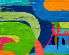 "Candy Girl 4, 2007, acrylic on board, 8 x 6"""
