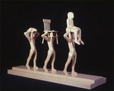 """Procession, 2001, wood, 11 5/8 x 18 3/4 x 5 1/2"""""""