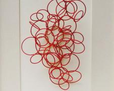 Line Drawing #6, 2013, cold painted bronze, 10 x 8 x 5""