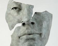 "Fragmento Rostro Asiatico, 2005, bronze, 17 x 7 x 6"", ed. 8/8"