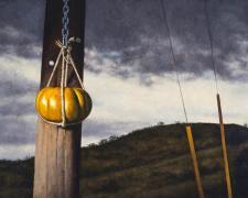 """Captive, 2014, oil on canvas, 24 x 48"""""""