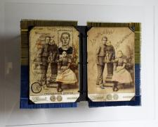 """Vladyslav Krasnoshchok and Olga Starostina, Passport, 2011, mixed media, 10 x 13 x 4"""""""