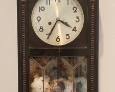 Ann Johnson, Time Won't Give Me Time, 2021, intaglio on raw cotton, found objects
