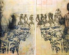 Capital Boys, 2004, mixed media, 11 x 22""
