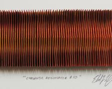 "Chromatic Resonance #10, 2016, paper, i.s. 1 1/2 x 4 3/4 x 1/2"" / f.s. 12 x 15 x 1 1/2"""