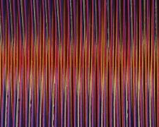 "Chromatic Resonance #11, 2016, paper, foiled card, 2 1/2 x 5 1/2 x 1/2""/Framed  11 x 14 x 1 1/2"""