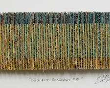 "Chromatic Resonance #12, 2016, paper, cardboard, i.s. 2 1/4 x 5 1/2 x 1/2"" / f.s. 12 x 15 x 1 1/2"""