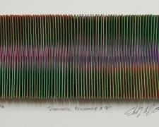 "Chromatic Resonance #9, 2016, paper, i.s. 2 1/2 x 5 1/2 x 1/2"" / f.s. 12 x 15 x 1 1/2"""