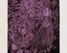 "Stephanie Mercado, ""Fall"", 2010, drypoint with chine-colle, ed. 2/4, f.s. 16 1/2 x 12 3/4"" / p.s. 15 x 11"""