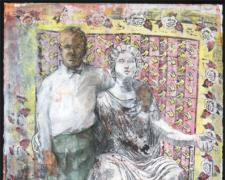 Goddess and Child, 2008, mixed media, 11 x 15""