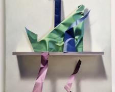 "Yrjo Edelmann, ""Green Triangle"", 1994, oil on canvas, 23 1/2 x 23"""