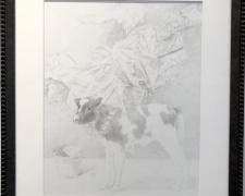 """Presentation of Virgin to the Temple, 2018, graphite on paper, i.s. 14 1/2 x 11 1/2"""" / f.s. 20 x 17"""""""