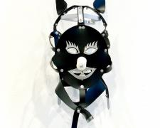 Scold's Bridle: The American Presidential Election of 2016, 2016, rubber, aluminum, ceramic, 18 x 10 x 10""