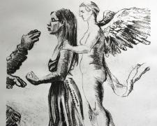 "Iesha Fate, 2016, lithograph, 13 x 9"""