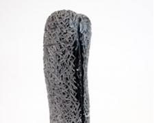 "Jorge Elizondo, ""Marble Cocoon"", 2019, black marble, 20 1/2 x 7 x 6"""