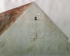 """Hay Lift, 1974, acrylic on paper, p.s. 18 x 24"""""""