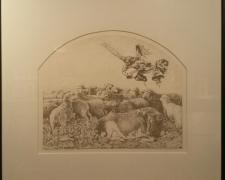 "Annunciation, 1981, litho, 18 x 16"", ed. 78/100"