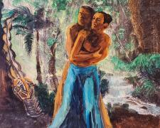 "Leamon Green, ""Lost"", 2019, acrylic on board, 20 x 16"""