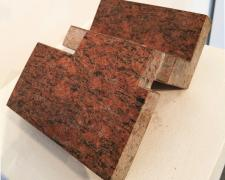 "Diary ""90, 1990, Arkansas red granite, 3 3/4 x 8 3/4 x 6 1/2"""