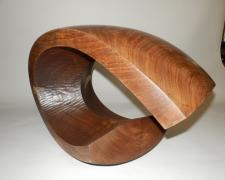 Wave, 1998, Texas walnut, 13 3/4 x 20 x 12""