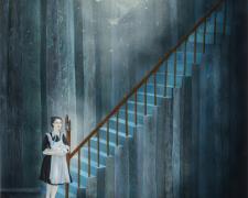 "Maid's Dreams, 2015, gouache on paper, 28 x 20"""