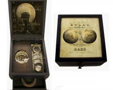 "Mars Atlas, 2013, assemblage, 8 x 7 1/2 x 5"""