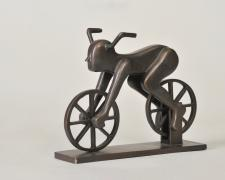 "Bicycle Man, 1991, bronze, 5 1/2 x 3 x 6 1/2"", ed. 2/10"
