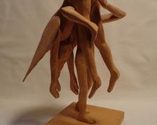 Fallen Angel, 1982, pine wood, 8 1/2 x 5 x 6 1/2""