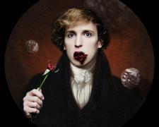 "Prince Varughese Thomas, Portrait of Logan Paul, 2021, pigment print, 13 x 13"", A/P"