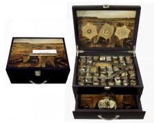 "Plates, 2013, assemblage, 8 1/2 x 11 x 5"""