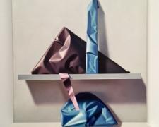 "Purplish Triangle, 1993, oil on canvas, 23 1/2 x 23"""
