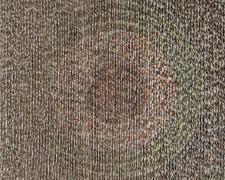 "Puzzled #9, Target, 2016, puzzle pieces, chipboard, wood, aluminum, 22 x 22 x 1 1/2"""